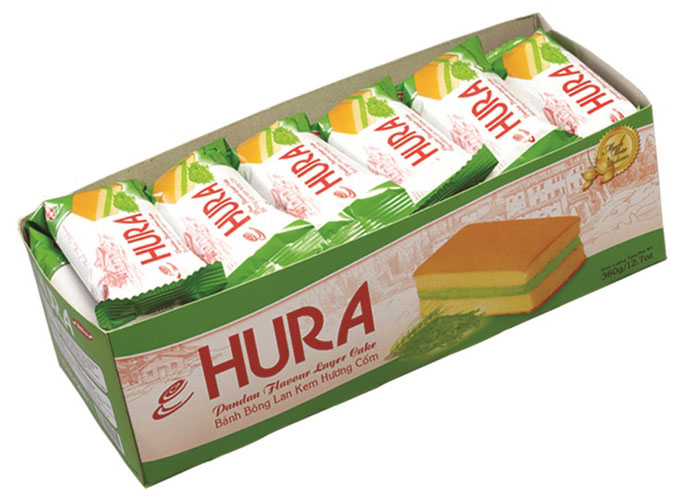 福瑞安香兰味夹心蛋糕,金额¥18.9元/盒