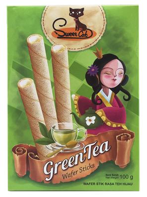 甜猫绿茶味卷心酥华夫饼干 金额¥7.2元/包