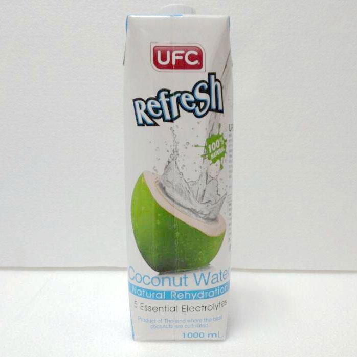 UFC牌100%纯椰子水1L,单价¥24.3元/盒