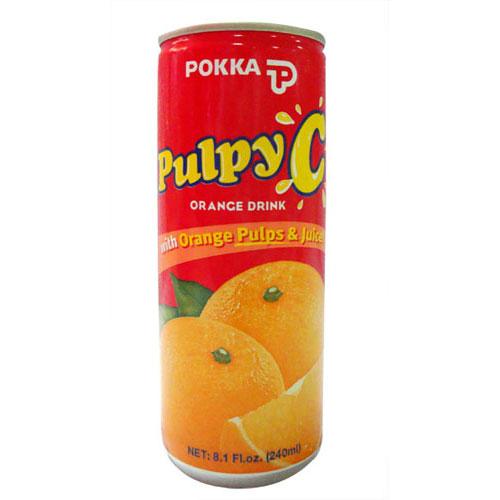 POKKA百佳粒粒C橙汁飲料,金額¥6.2元/罐