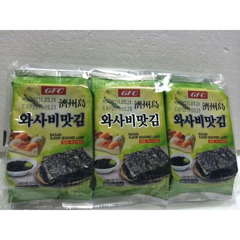GFC芥末味海苔,單價:¥11.3元
