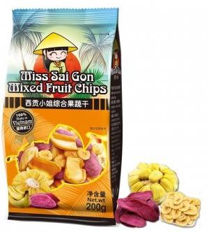 西贡小姐综合蔬果干200g,单价:¥21