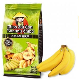 西贡小姐菠芭蕉干200g,单价:¥21.5元