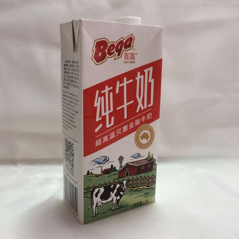 百嘉超高溫滅菌全脂牛奶,單價:¥18元
