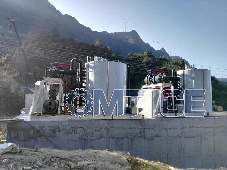 OMT 20Ton Flake Ice Machine for Concrete Plant