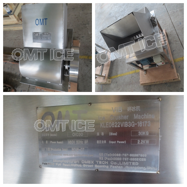 OMT 2sets Ice Crusher Machine to Sweden